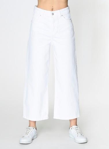Loves You Culotte Jean Pantolon Beyaz